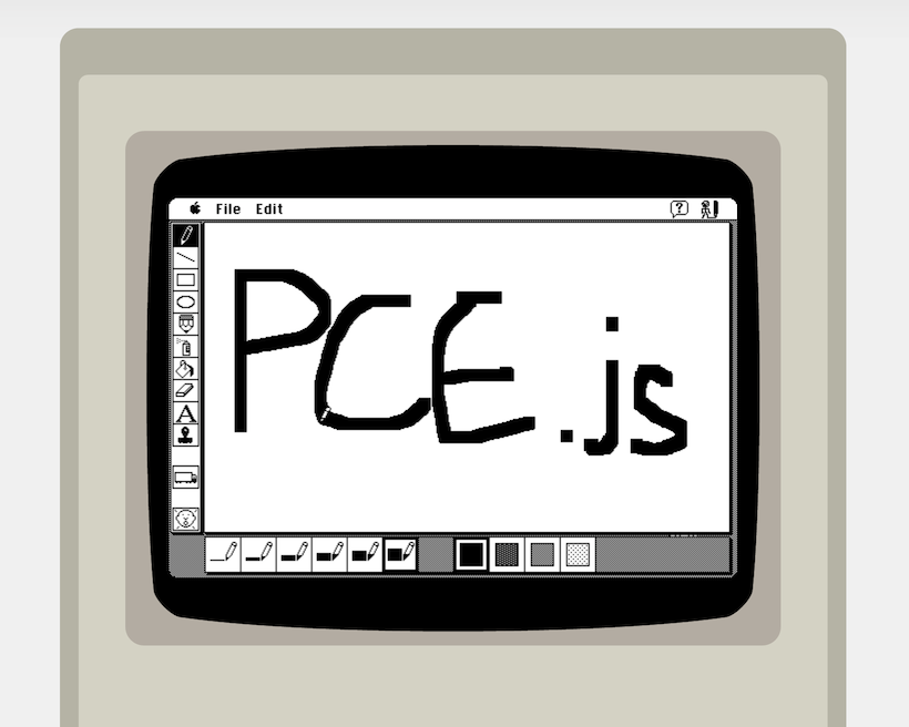PCE.js MacPaint screenshot